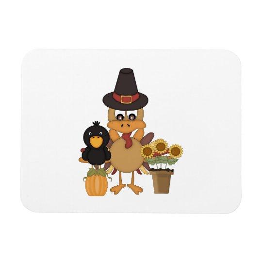Thanksgiving Turkey Friends Magnet