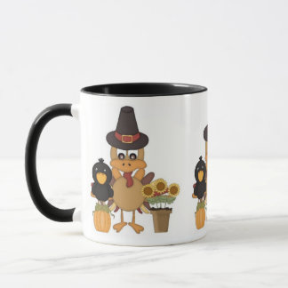 Thanksgiving Turkey Friends Mug