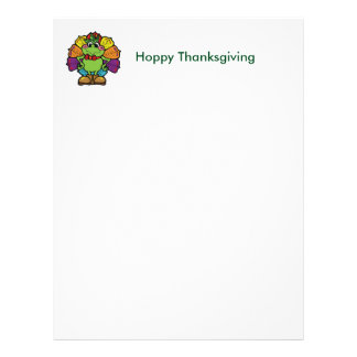 Thanksgiving Turkey Frog Letterhead