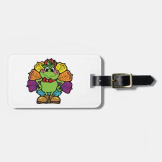 Thanksgiving Turkey Frog Luggage Tag