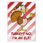 Thanksgiving Turkey Funny Disguise for Christmas Greeting Card