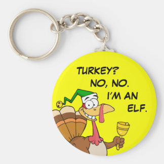 Thanksgiving Turkey Funny Disguise for Christmas Basic Round Button Keychain