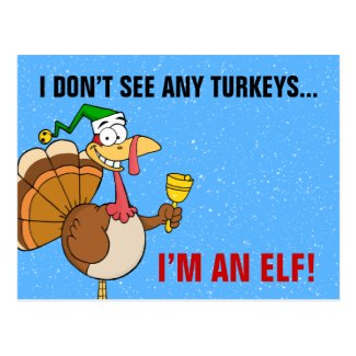 Thanksgiving Turkey Funny Disguise for Christmas Postcard