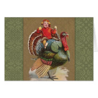 Thanksgiving Turkey Funny Vintage Greetings Card