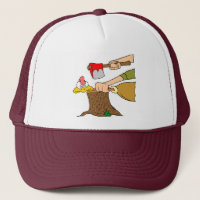 Thanksgiving turkey getting the axe trucker hat