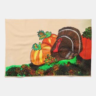 THANKSGIVING TURKEY GOBBLER towel