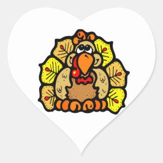 Thanksgiving Turkey Heart Sticker