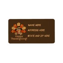 Thanksgiving turkey Holiday address label