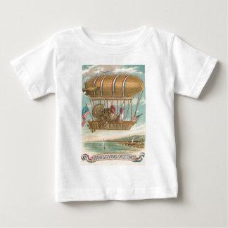 Thanksgiving Turkey Hot Air Balloon US Flag Infant T-shirt