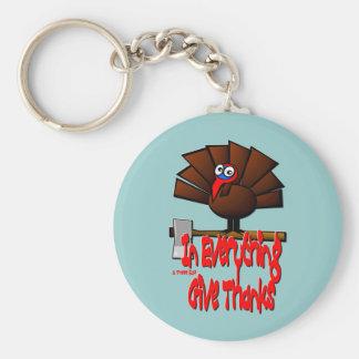 Thanksgiving Turkey - In EVERYTHING Give Thanks Basic Round Button Keychain