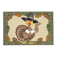 Thanksgiving Turkey laminated paper place mat