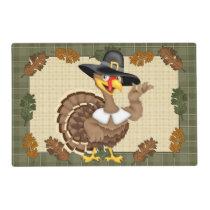 Thanksgiving Turkey laminated paper place mat
