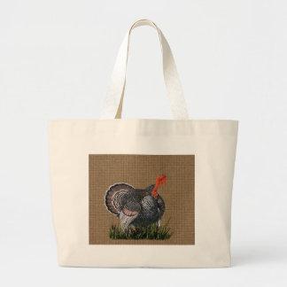 Thanksgiving Turkey Large Tote Bag