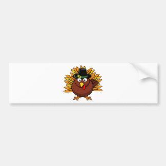 Thanksgiving Turkey Logo Create a Holiday Gift Bumper Sticker