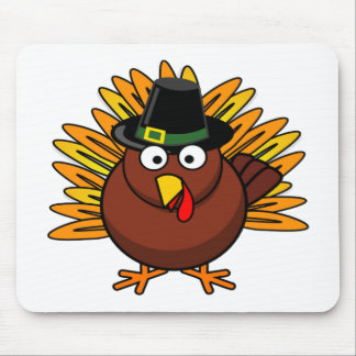 Thanksgiving Turkey Logo Create a Holiday Gift Mouse Pads