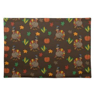 Thanksgiving Turkey pattern Cloth Placemat