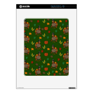 Thanksgiving Turkey pattern iPad Skins