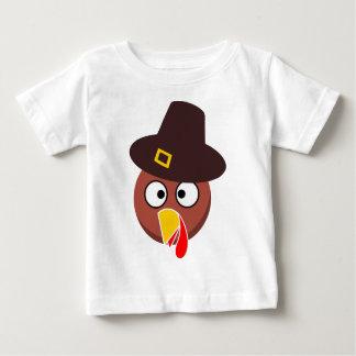 thanksgiving_turkey_pilgrim_hat2 baby T-Shirt