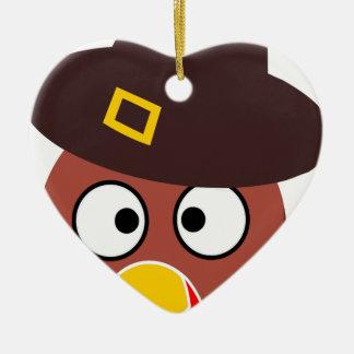 thanksgiving_turkey_pilgrim_hat2 ceramic ornament