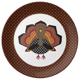 Thanksgiving Turkey Porcelain Plate