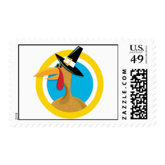 Thanksgiving Turkey Postage Stamp