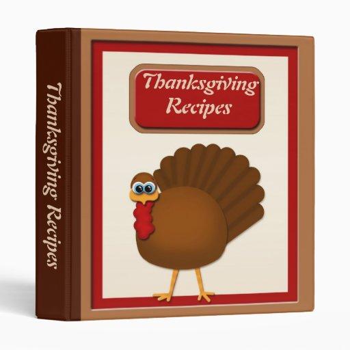 Thanksgiving Turkey Recipes Binder
