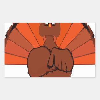 Thanksgiving Turkey Rectangular Sticker