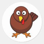 Thanksgiving Turkey Round Sticker