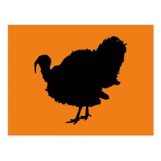 Thanksgiving Turkey Silhouette Postcard