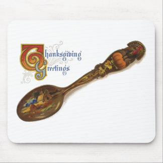 Thanksgiving Turkey Spoon Mouse Pad