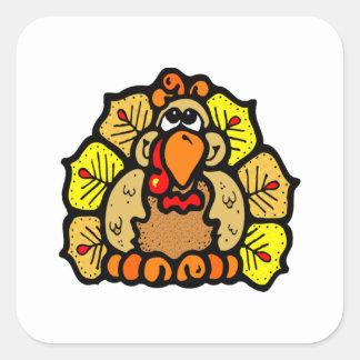 Thanksgiving Turkey Square Sticker