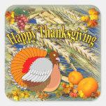 Thanksgiving Turkey ~ Square Sticker