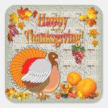 Thanksgiving Turkey ~ Square Sticker # 2