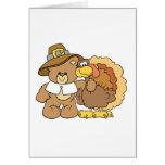 thanksgiving turkey teddy bear design cards