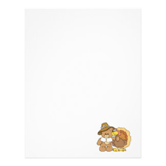 thanksgiving turkey teddy bear design letterhead