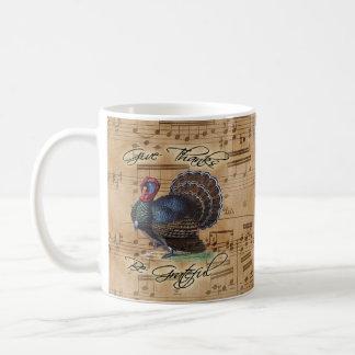 Thanksgiving Turkey Vintage Illustration Coffee Mug