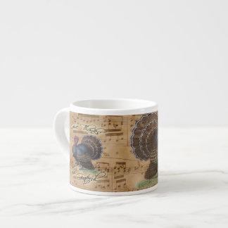 Thanksgiving Turkey Vintage Illustration Espresso Cup