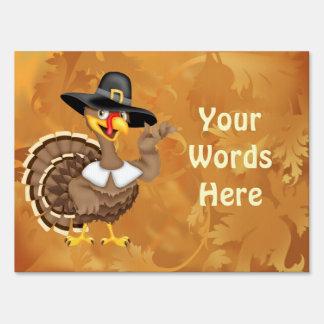Thanksgiving Turkey Yard Sign