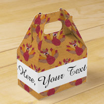 Thanksgiving Turkeys Pattern Favor Box