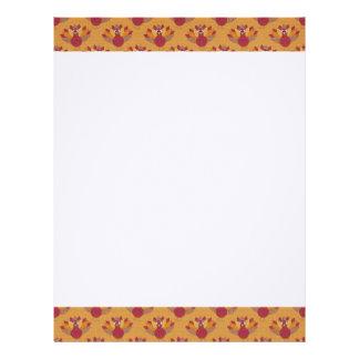 Thanksgiving Turkeys Pattern Letterhead