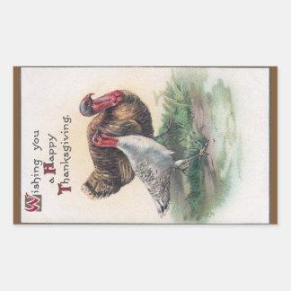 Thanksgiving Turkeys Rectangular Sticker