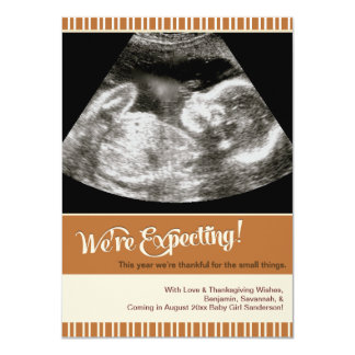 Thanksgiving Ultrasound Pregnancy Announcement