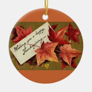 Thanksgiving Vintage Ceramic Ornament