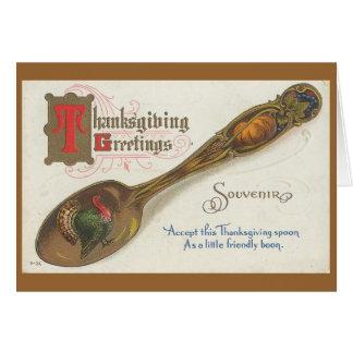 Thanksgiving Vintage  Spoon Card