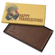 Thanksgiving Vintage Turkey 2 lb Chocolate Box