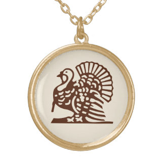 Thanksgiving ~ Vintage Turkey Gold Plated Necklace