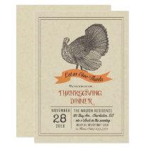 Thanksgiving Vintage Turkey Invitation