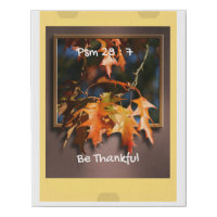 Thanksgiving Wall art, Thankful Thanksgiving Gift Faux Canvas Print