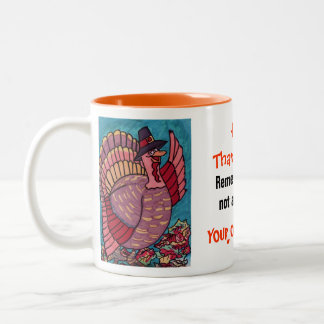 THANKSGIVING WAVING TURKEY mug