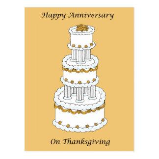 Thanksgiving Wedding Anniversary Postcard